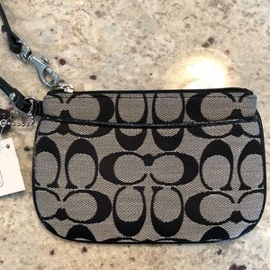 Black & Grey Coach Wristlet